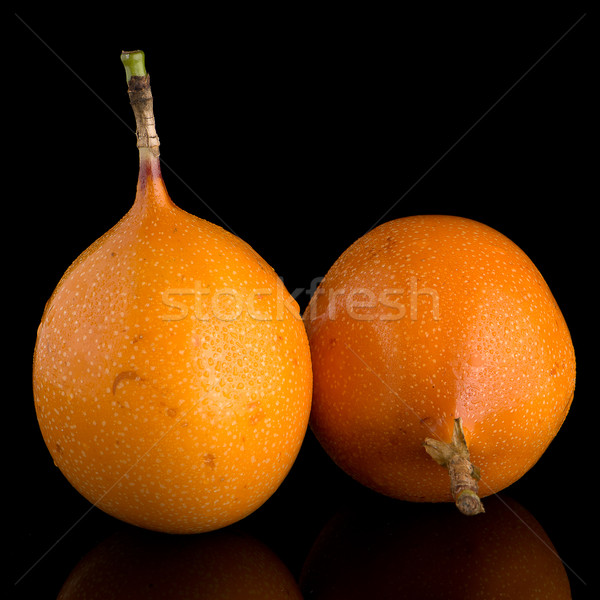 Passion fruits alimentaire fond orange tropicales Photo stock © homydesign
