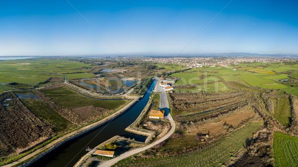 Aerial View of Cais da Ribeira de Pardelhas Stock photo © homydesign