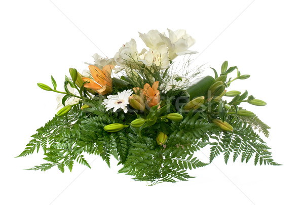 Mooie bloem arrangement Geel lelies geïsoleerd Stockfoto © homydesign