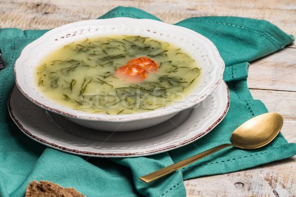 Caldo verde soup Stock photo © homydesign
