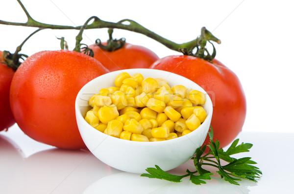 Stock photo: Corn grains on bowl