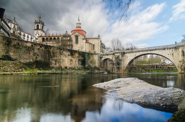 Bridge and Cathedral of Saint Goncalo Stock photo © homydesign