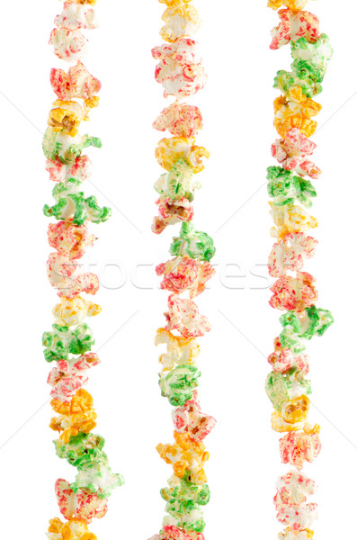 Popped  color kernels on three rows Stock photo © homydesign