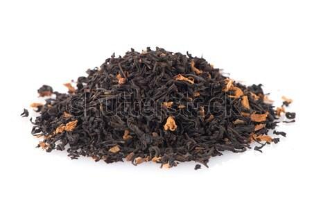 Preto secar chá pétalas aromático isolado Foto stock © homydesign