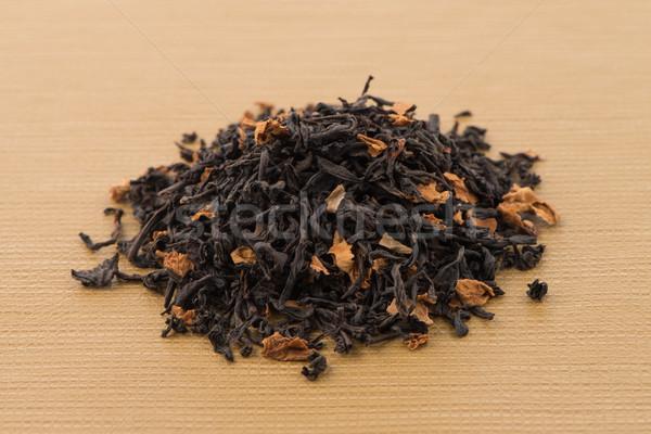 черный высушите чай лепестков ароматический желтый Сток-фото © homydesign