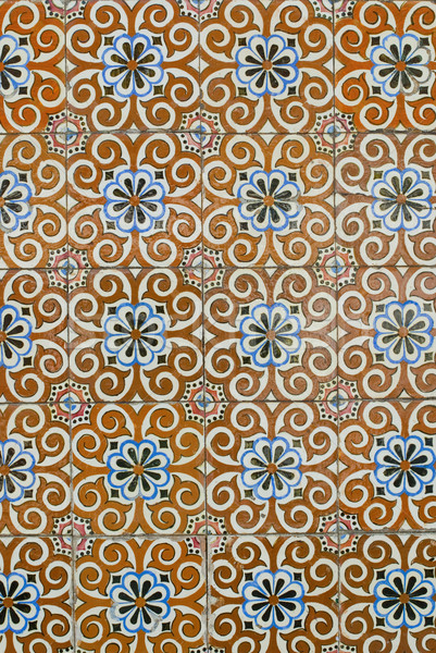 Portuguese glazed tiles 190 Stock photo © homydesign