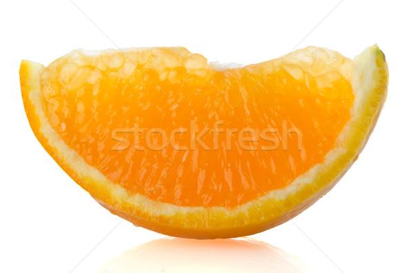 Szeletel narancs narancs rész fehér gyümölcs Stock fotó © homydesign