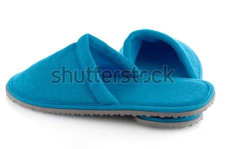 A pair of green slippers Stock photo © homydesign
