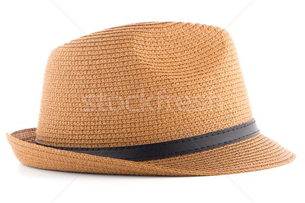 麦わら帽子 孤立した 白 女性 太陽 背景 ストックフォト © homydesign