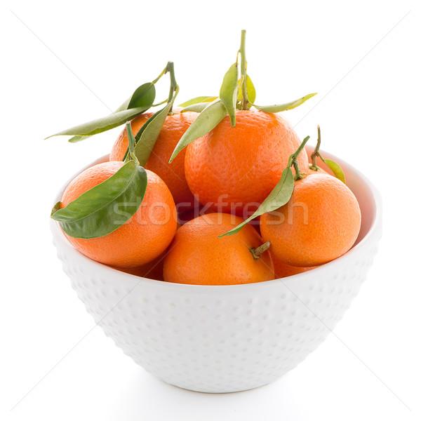 Cerámica blanco tazón aislado alimentos naturaleza Foto stock © homydesign