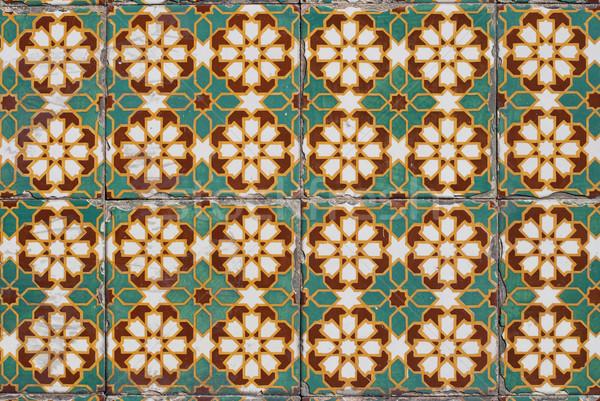 Portuguese glazed tiles 138 Stock photo © homydesign