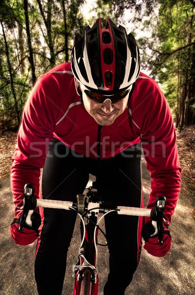 Cyclist Stock photo © homydesign