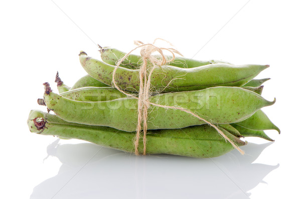 Ejotes vaina blanco alimentos paisaje cocina Foto stock © homydesign