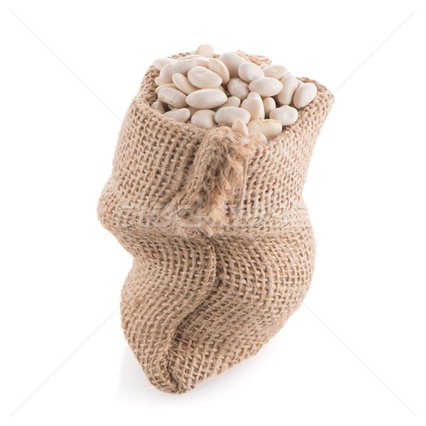 White beans bag Stock photo © homydesign