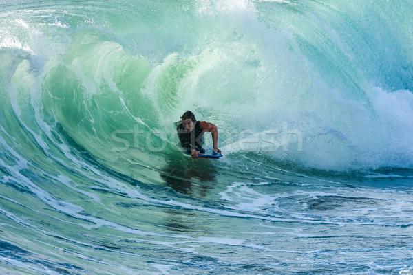 Actie oceaan golven strand water Stockfoto © homydesign