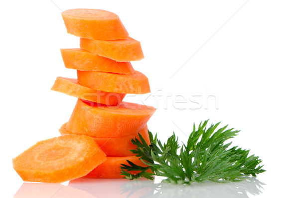 Pile of carrot slices Stock photo © homydesign