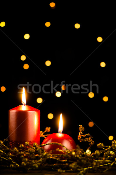 Christmas candles Stock photo © homydesign