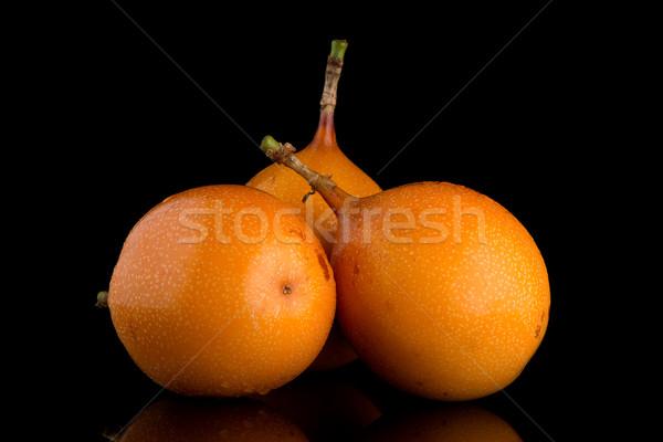 Szenvedély gyümölcs étel háttér narancs trópusi Stock fotó © homydesign