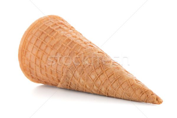 вафля конус белый фон десерта мороженого Сток-фото © homydesign