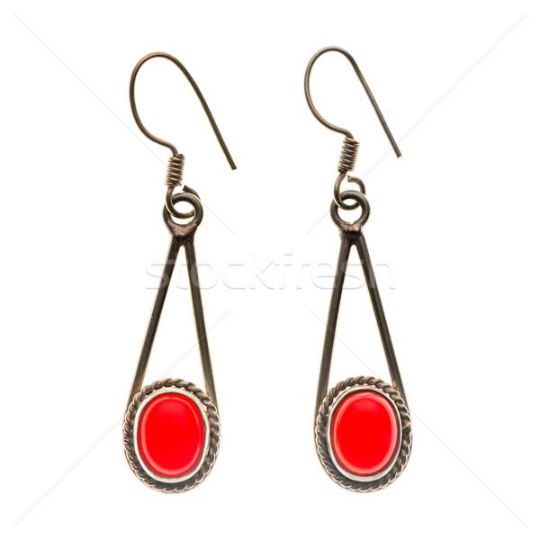 Indian traditional earrings Stock photo © homydesign