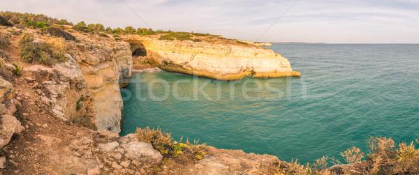 Kustlijn zomer oceaan stad hemel landschap Stockfoto © homydesign