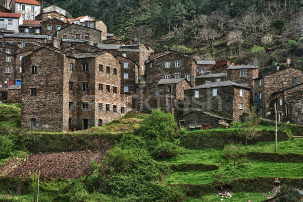 Stock photo: Old moutain village in Portugal