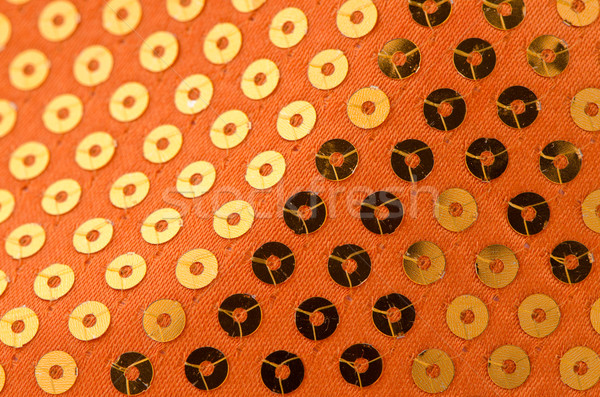 Orange paillette background Stock photo © homydesign