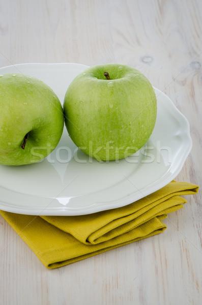 Two green apples Stock photo © homydesign