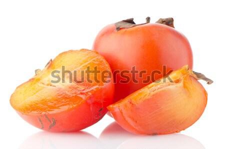 Persimmon with slice Stock photo © homydesign