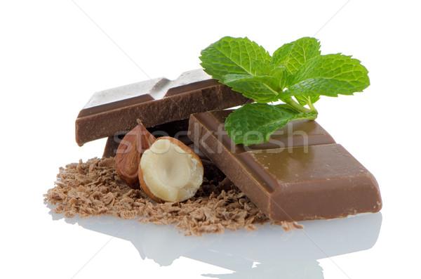Chocolate canela aislado blanco fondo Foto stock © homydesign