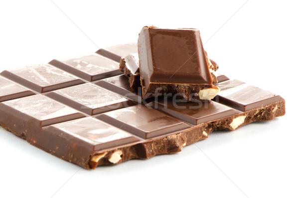 Pormenor chocolate branco comida Foto stock © homydesign