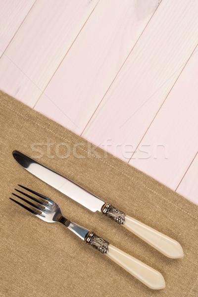 台所用品 ベージュ タオル 木製 台所用テーブル ストックフォト © homydesign