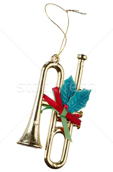 Natal decoração decorações plástico instrumento musical isolado Foto stock © homydesign