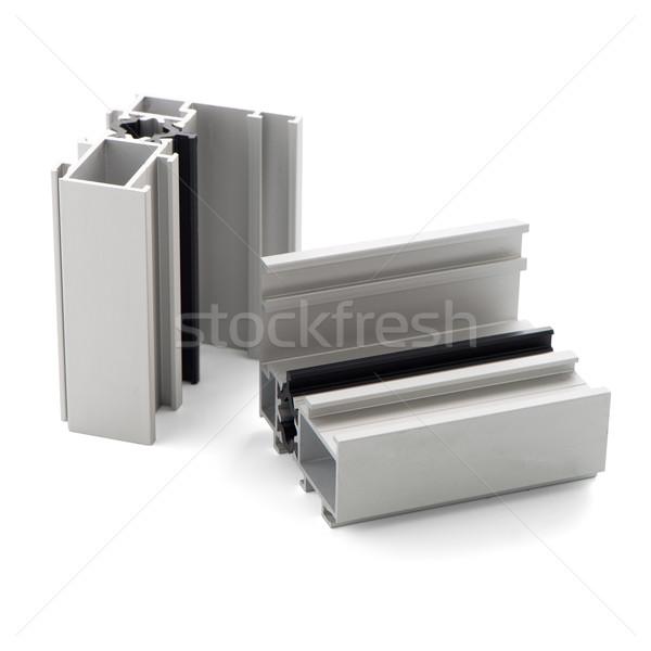 Alumínium profil minta izolált fehér ház Stock fotó © homydesign