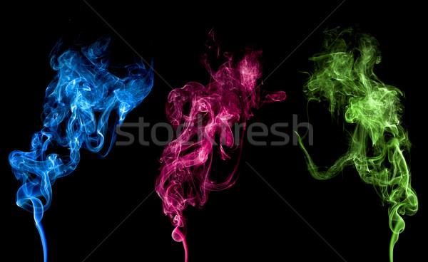 Stockfoto: Abstract · kleurrijk · rook · geïsoleerd · schone · licht