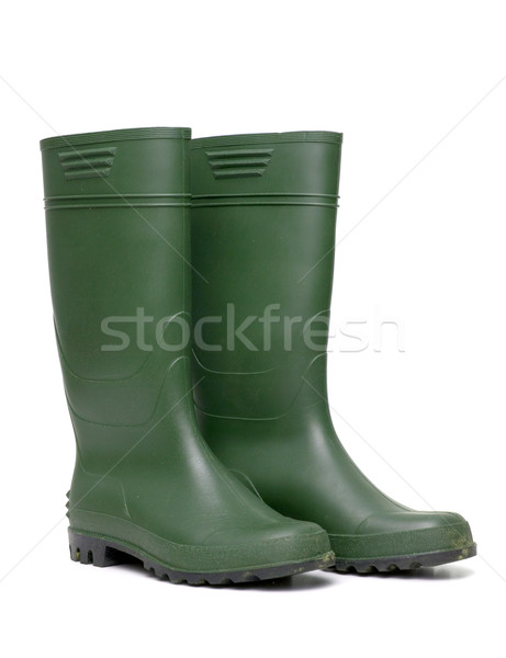 Green rubber boots  Stock photo © homydesign