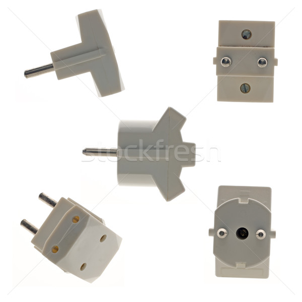 Triple outlet plugs  Stock photo © homydesign