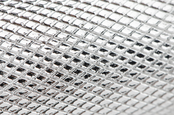 Metal mesh plating Stock photo © homydesign