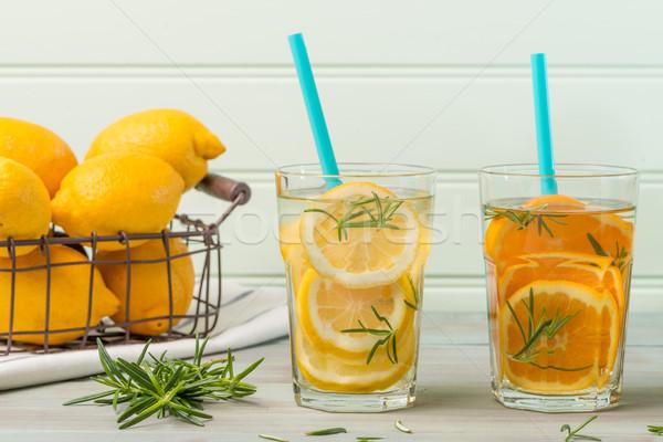 Detox water cocktails Stock photo © homydesign
