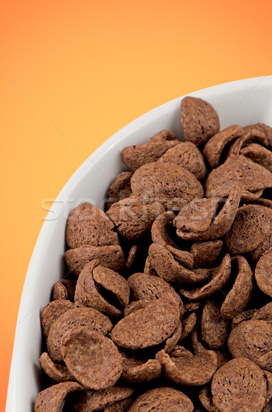 Chocolate cereals Stock photo © homydesign