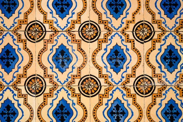 Traditional Portuguese azulejos Stock photo © homydesign