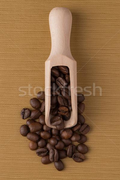 Fából készült merítőkanál kávé felső kilátás barna Stock fotó © homydesign