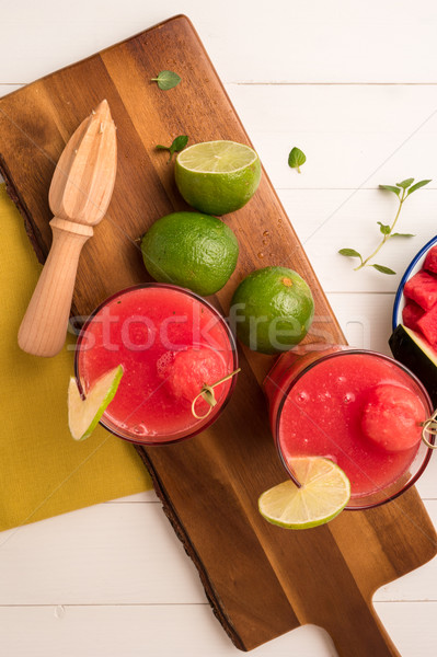 Watermelon smoothies Stock photo © homydesign
