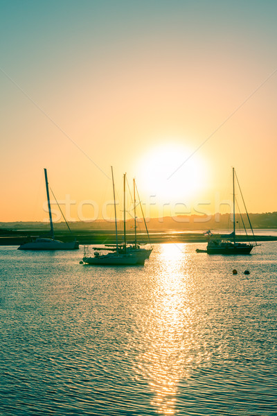 Sunset in Alvor Stock photo © homydesign