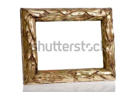 Golden photo frame  Stock photo © homydesign