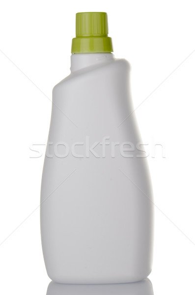 Branco detergente plástico garrafa verde boné Foto stock © homydesign