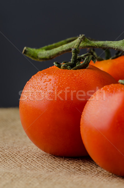 Closeup of cherry tomatoes Stock photo © homydesign