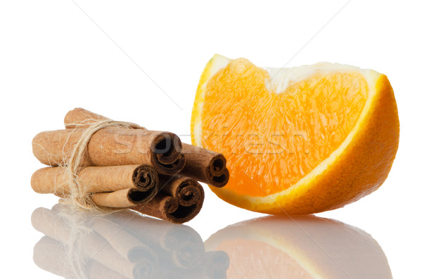 One orange fruit segment  Stock photo © homydesign