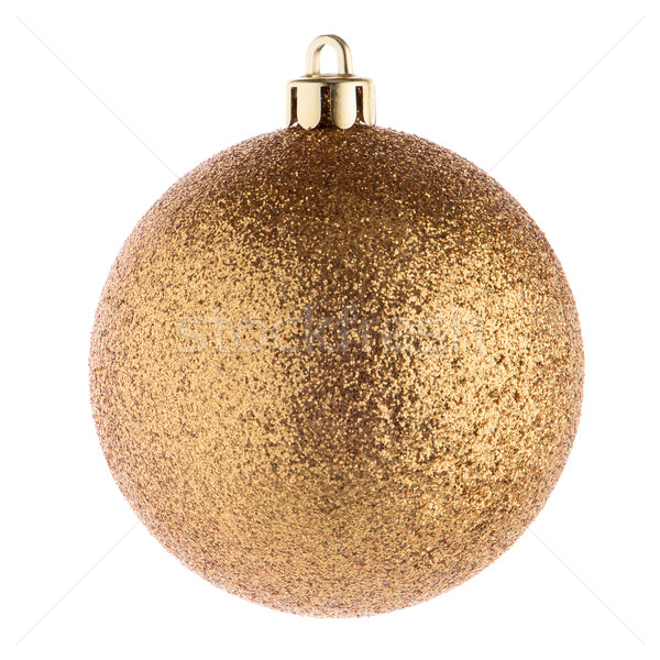 Golden christmas ball Stock photo © homydesign
