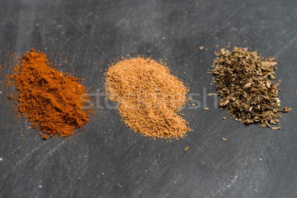Powder spices Stock photo © homydesign